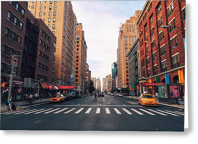 Nyc Taxi Greeting Cards - New York City - Summer Greeting Card by Vivienne Gucwa