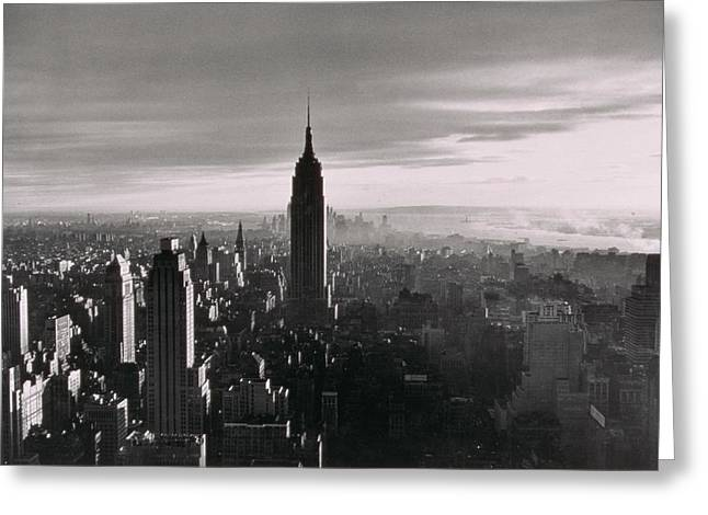 Nyc Rooftop Greeting Cards - New York City Untitled Nine Greeting Card by Nat Herz