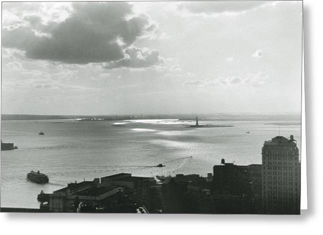 Lower Manhattan Greeting Cards - New York City Untitled One Greeting Card by Nat Herz