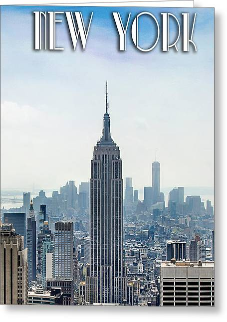 New York Classic Greeting Card by Az Jackson