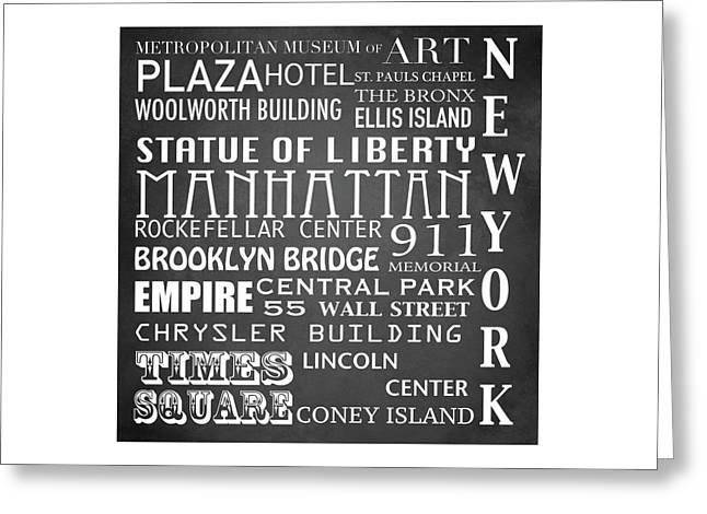 Rockefellar Greeting Cards - New York Famous Landmarks Greeting Card by Patricia Lintner