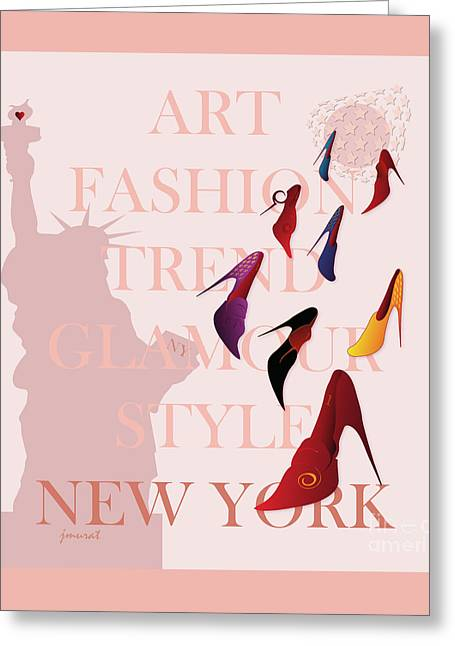 High Heels Abstract Art Greeting Cards - New York Fashion 1 Greeting Card by Johannes Murat