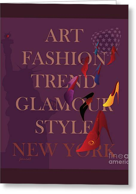 High Heels Abstract Art Greeting Cards - New York Fashion 2 Greeting Card by Johannes Murat