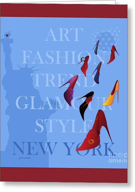 High Heels Abstract Art Greeting Cards - New York Fashion 3 Greeting Card by Johannes Murat