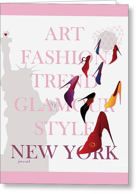 High Heels Abstract Art Greeting Cards - New York Fashion 4 Greeting Card by Johannes Murat