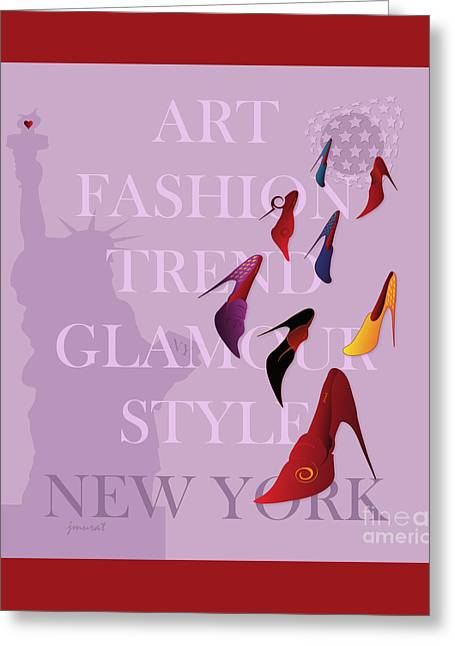 High Heels Abstract Art Greeting Cards - New York Fashion 6 Greeting Card by Johannes Murat
