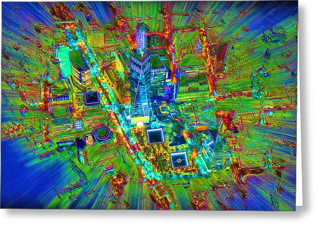 New York Freedom Tower Lower Manhattan 2 Greeting Card by Tony Rubino