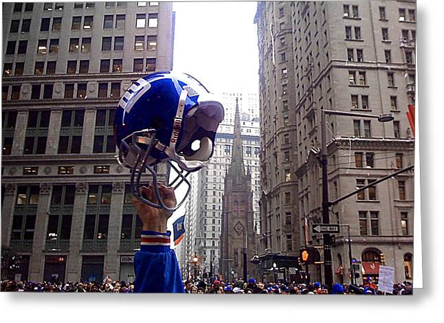 Ticker Tape Parade Greeting Cards - New York Giants Champs Greeting Card by Jeff Stein