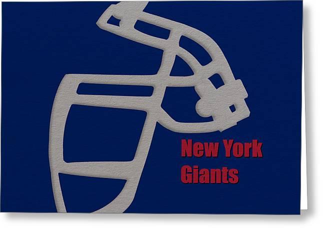 New York Giants Retro Greeting Card by Joe Hamilton