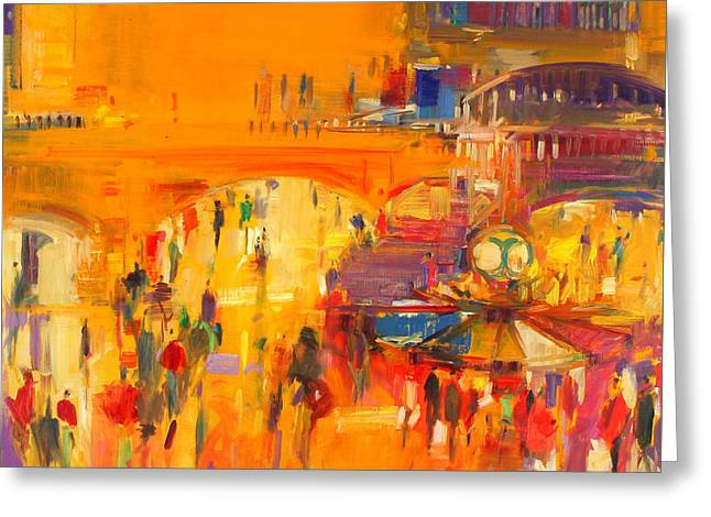 New York  Grand Central Greeting Card by Peter Graham