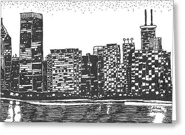 New York Greeting Card by Jo Anna McGinnis