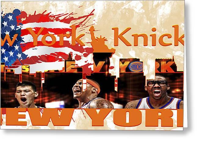 Knicks Digital Greeting Cards - New York Knicks Greeting Card by Don Kuing
