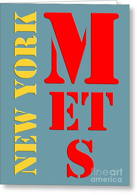New York Mets Baseball New Typography Greeting Card by Pablo Franchi