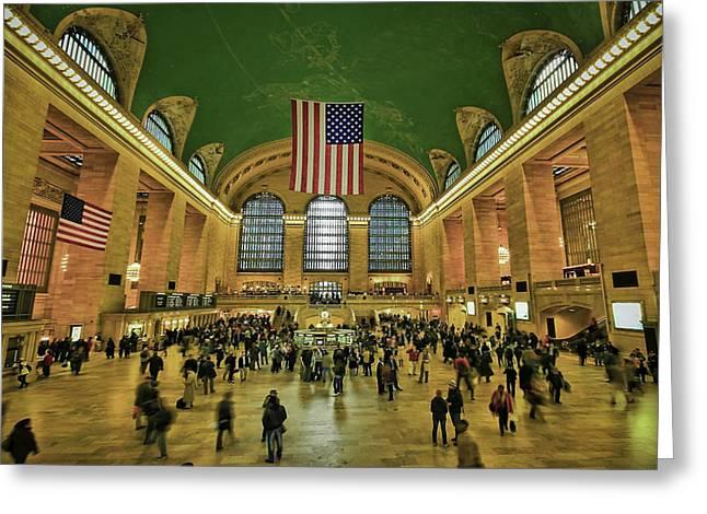 New York Minute Greeting Card by Evelina Kremsdorf