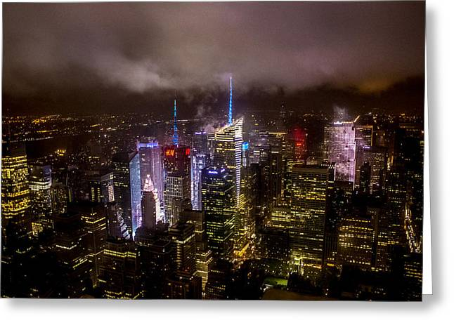 Rocks Greeting Cards - New York Skyline Greeting Card by Martin Newman