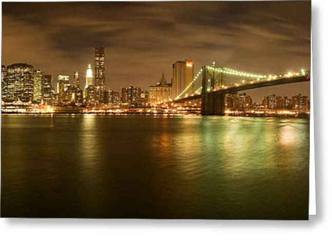 Skyline Greeting Cards - New York Skyline Greeting Card by Shubhra Pandit