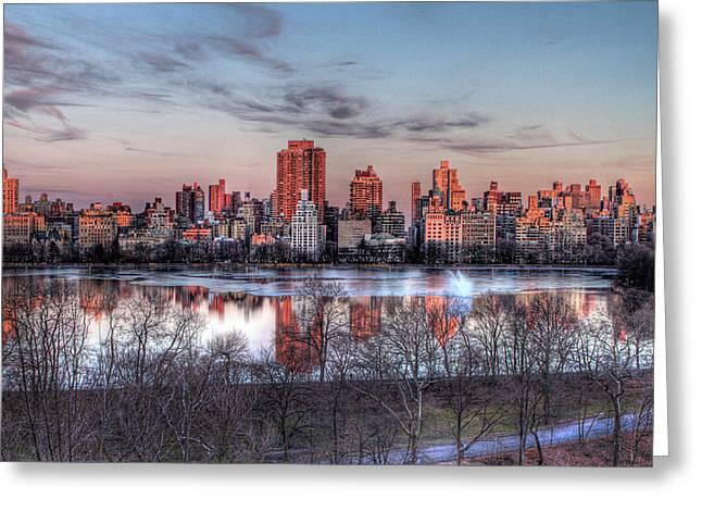 New York Spring Awakening Greeting Card by Ariane Moshayedi