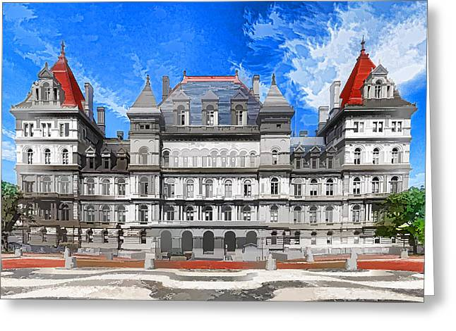 New York State Capitol Greeting Card by Lanjee Chee