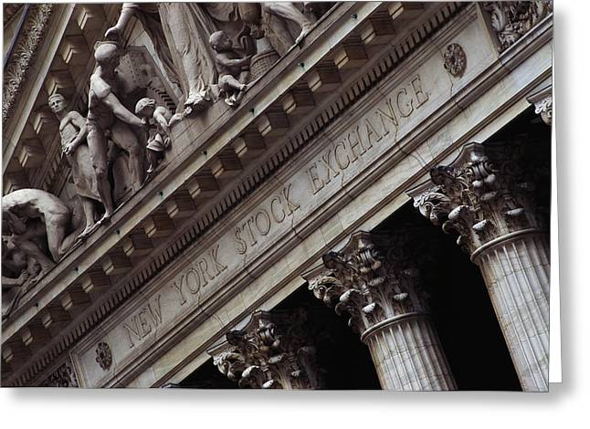 New York Stock Exchange New York Ny Greeting Card by Panoramic Images