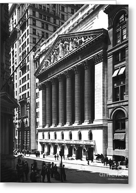 Science Collection - Greeting Cards - New York Stock Exchange Greeting Card by Photo Researchers