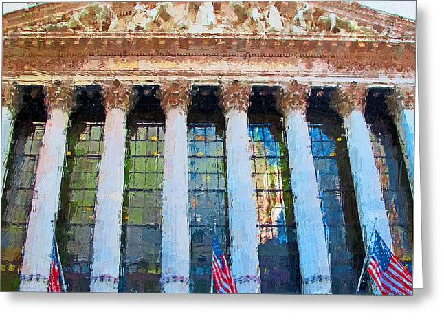 New York Stock Exchange Greeting Card by Yury Malkov