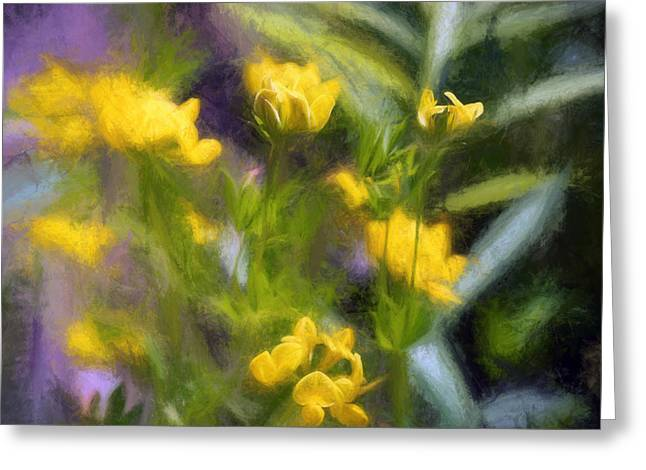 Floral Digital Art Digital Art Greeting Cards - New York Wildflowers III Greeting Card by Tina Baxter