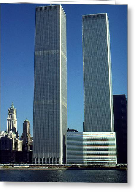 New York World Trade Center Before 911 - Photo Art Greeting Card by Art America Online Gallery