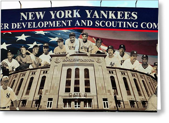 New York Yankee Legends Greeting Card by David Lee Thompson