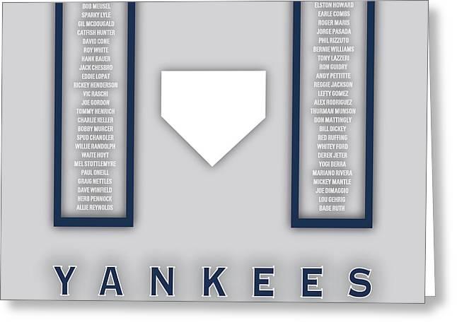 New York Yankees Greatest Greeting Card by Damon Gray