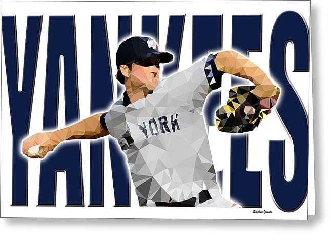 Yankee Division Greeting Cards - New York Yankees Greeting Card by Stephen Younts