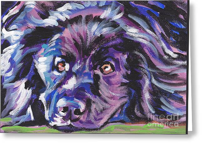 Newfoundland Greeting Cards - Newfie  Greeting Card by Lea