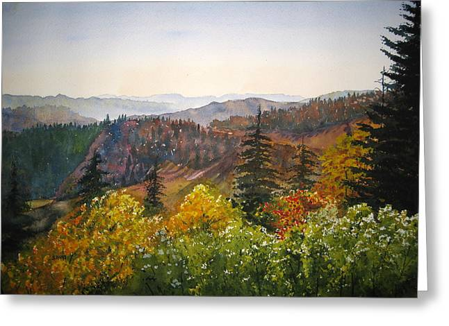 Great Smokey Mountains Greeting Cards - Newfound Gap Greeting Card by Shirley Braithwaite Hunt