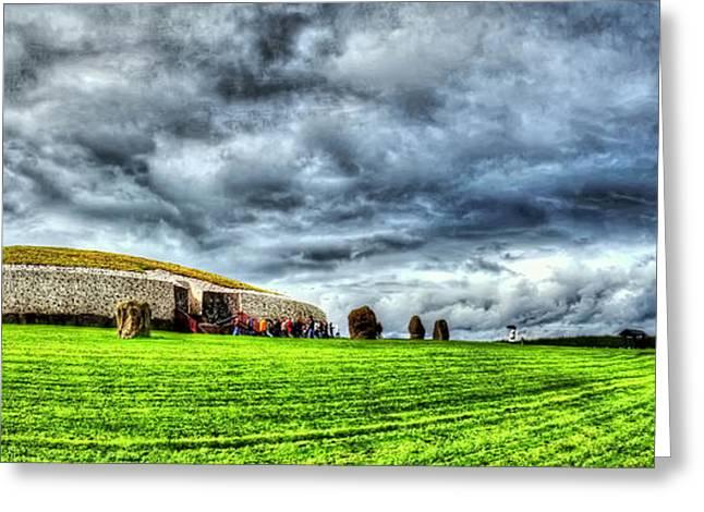 Hdr Landscape Greeting Cards - Newgranges Rolling Thunder Greeting Card by Kim Shatwell-Irishphotographer