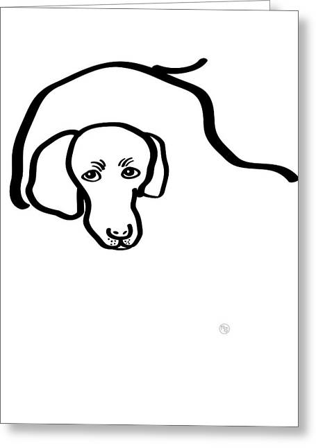 Me And My Dog Greeting Cards - Newman The Poodle Greeting Card by RURUFLO Studio