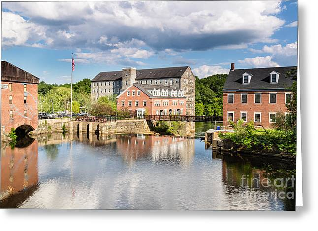 Textile Photographs Greeting Cards - Newmarket Mills Greeting Card by Dawna  Moore Photography