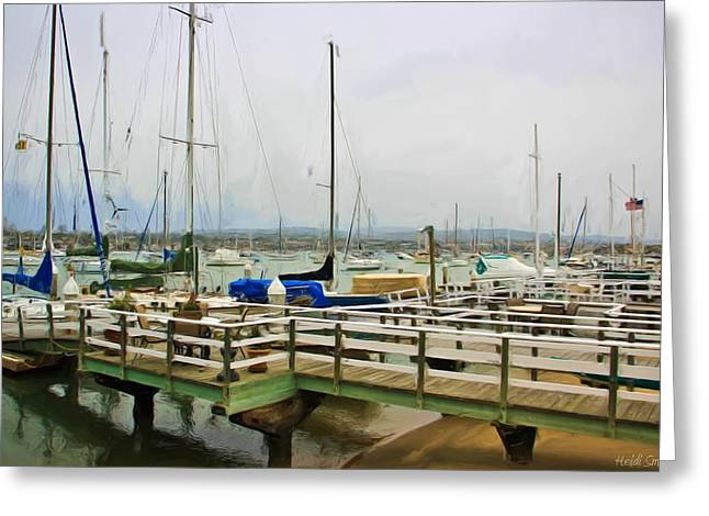 Balboa Island Greeting Cards - Newport Bay And Balboa Island Greeting Card by Heidi Smith