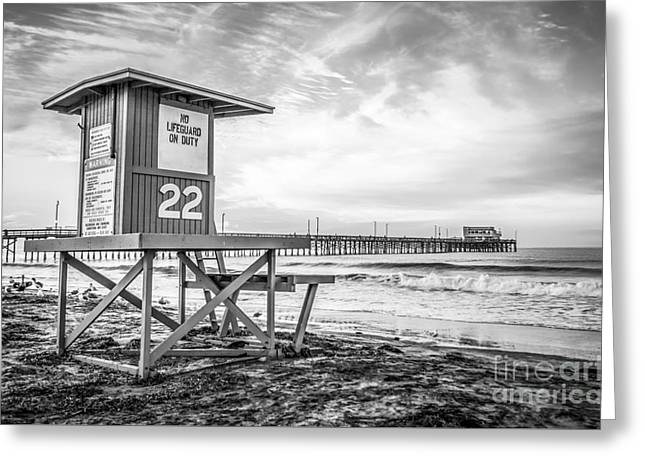 Newport Beach Lifeguard Tower 22 Photo Greeting Card by Paul Velgos