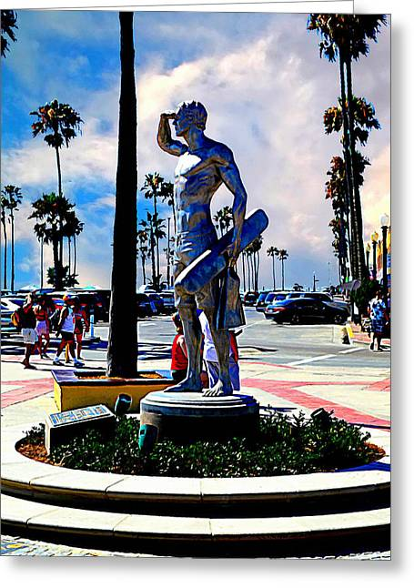 Newport Beach - Pier Entryway Greeting Card by Glenn McCarthy Art and Photography
