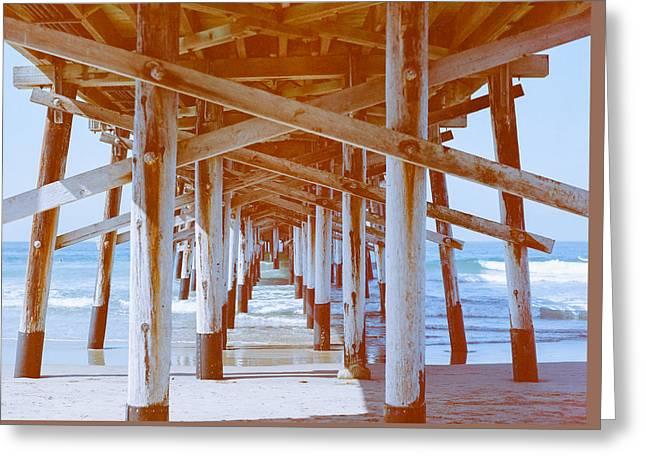 Newport Beach Pier Photography Greeting Card by Ariane Moshayedi