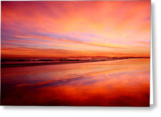 Coast Highway One Greeting Cards - Newport Beach Sunset Greeting Card by Kyle Hanson