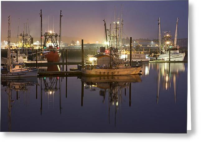 Newport Boats Greeting Card by Jon Glaser