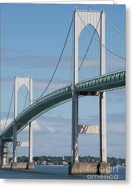 Newport Bridge Greeting Card by Juli Scalzi