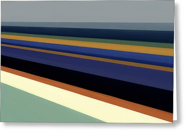 Ultra Modern Mixed Media Greeting Cards - Newport Dunes/ Coastline II Greeting Card by Mark Santistevan