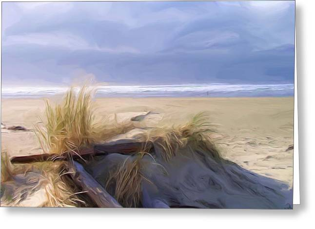Seacape Greeting Cards - Newport Oregon Summer Beach Greeting Card by Shelley Bain