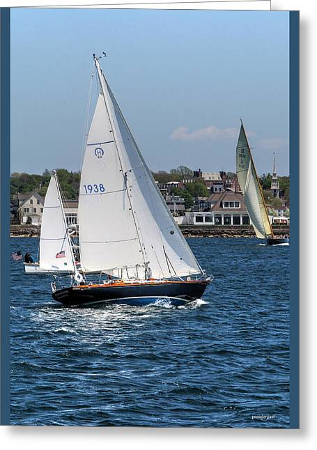 Sailboat Images Greeting Cards - Newport Rhode Island Greeting Card by Tom Prendergast