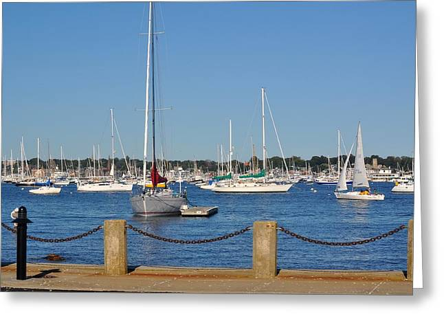 Ocean Sailing Greeting Cards - Newport Rode Island Greeting Card by DeTerra Photography