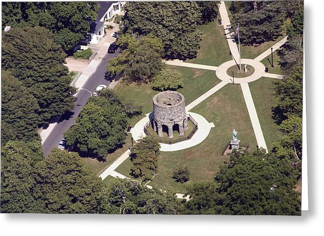 Newport Tower Rhode Island Greeting Card by Duncan Pearson