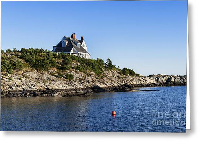 Scenic Drive Greeting Cards - Newport waterfront Greeting Card by John Greim