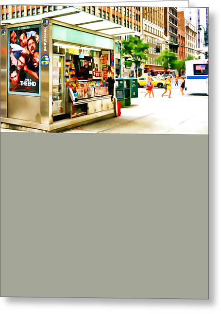 Newspaper Publisher Greeting Cards - Newsstand Greeting Card by Lanjee Chee