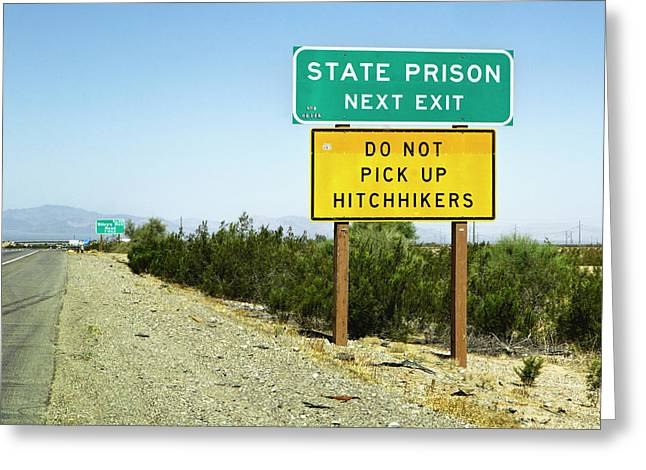 Next Exit Greeting Card by Patricia Sanders